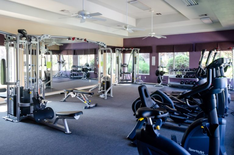 Our club quality fitness center is perfect for a workout